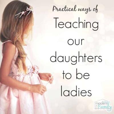 teaching daughters to be ladies