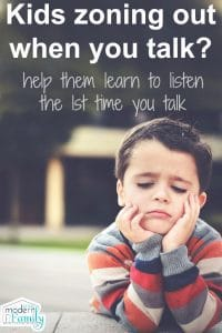 kids not listening? try this