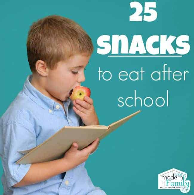 25 after school snacks