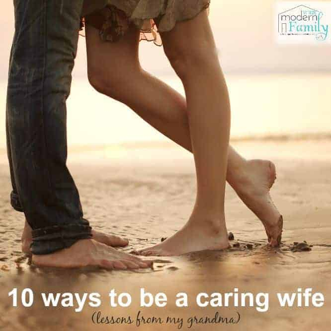 be a caring wife