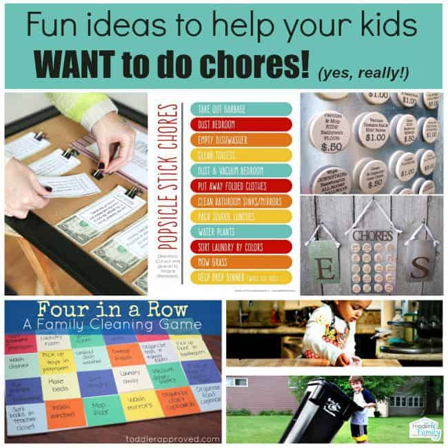 fun ideas to help kids want to do chores