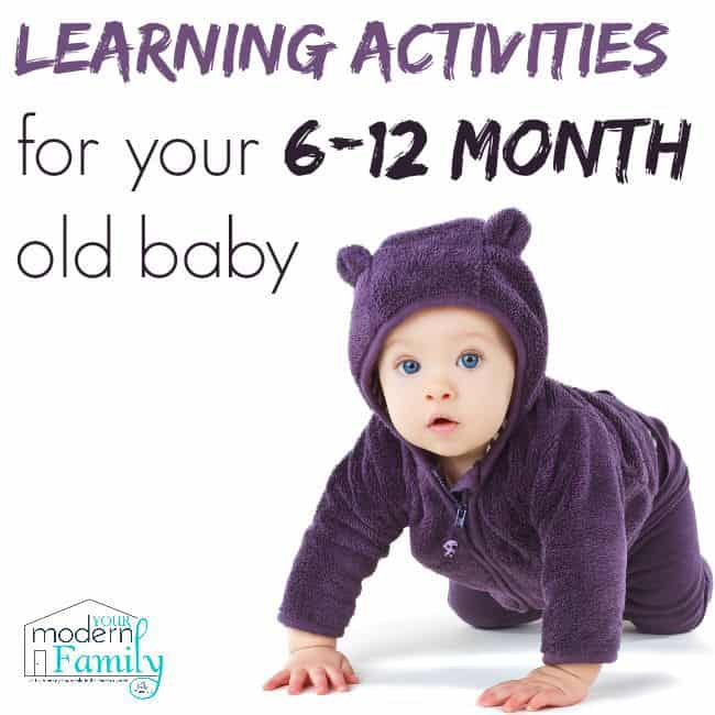 learning activities for 6-12 month old baby