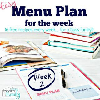 Free Meal Plan from Your Modern Family –  week 2