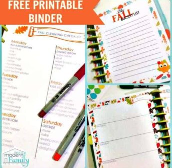 FREE PRINTABLE FALL BINDER