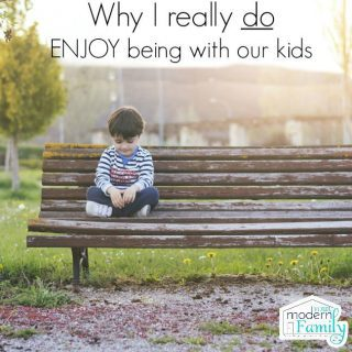 Why I will never write about how I don't enjoy time with our kids