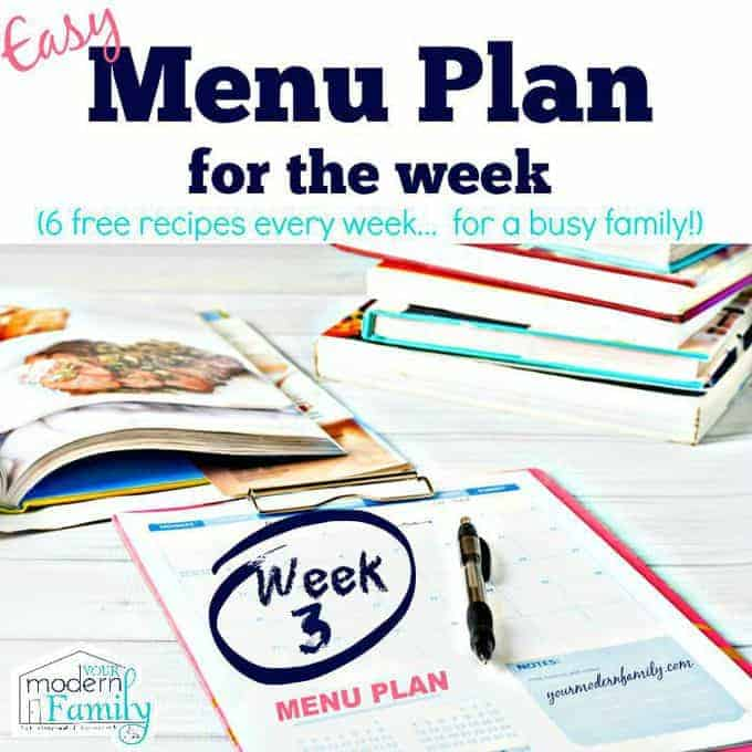 menu plan (free) week 3