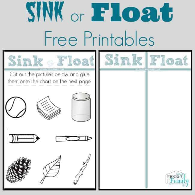 Sink Or Float Chart on Printable Weather Chart For Kindergarten