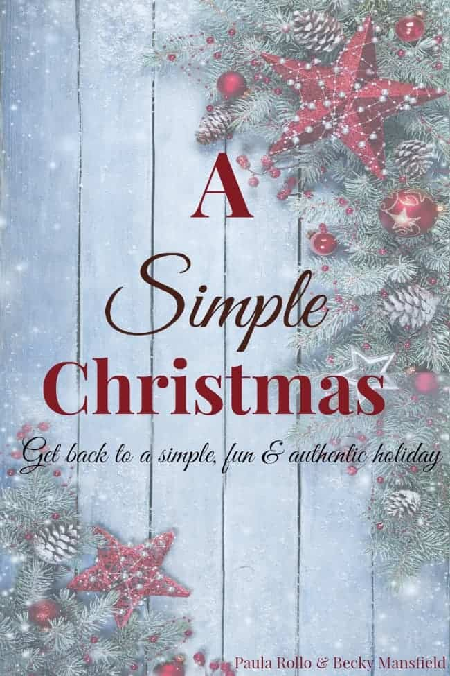 A simple Christmas - get back to