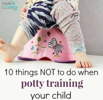 POTTY TRAIN NOT TO DO
