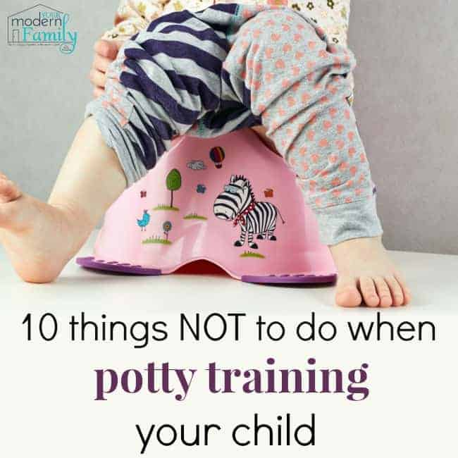 pin for what not to do when potty training