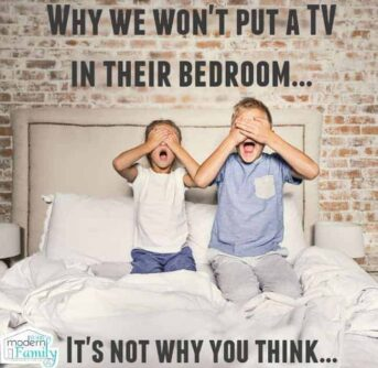 no tv in bedroom