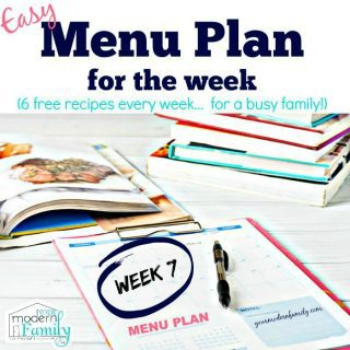 Free Menu Plan – Week 7