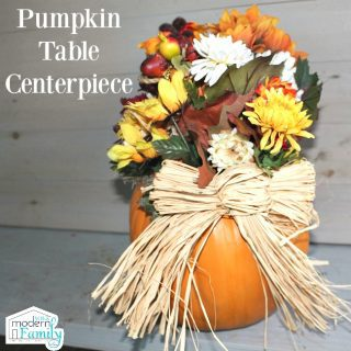 Pumpkin Table Centerpiece {$100 giveaway!}