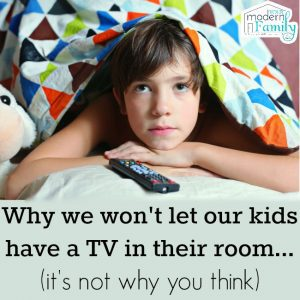 Should I get a tv in my kid's room?