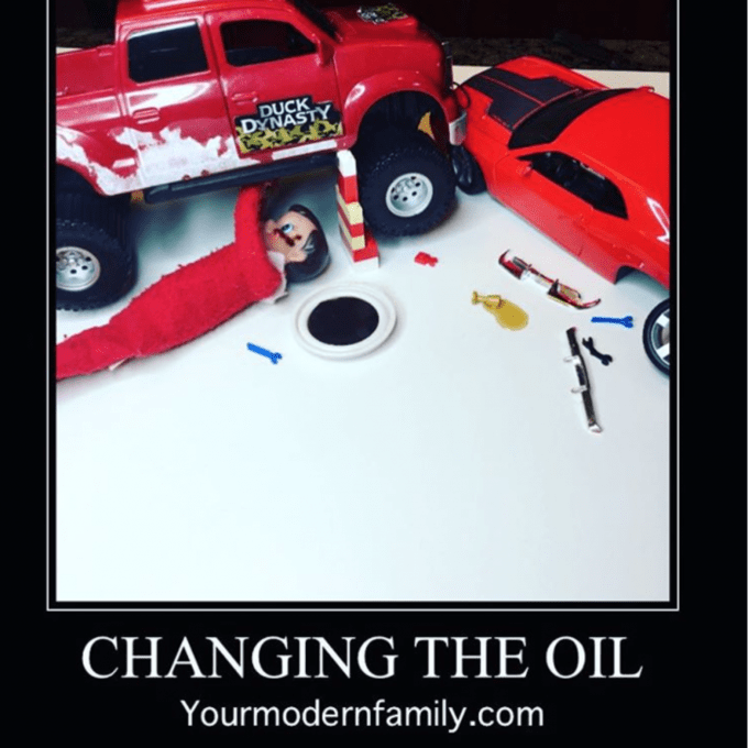 elf changing oil