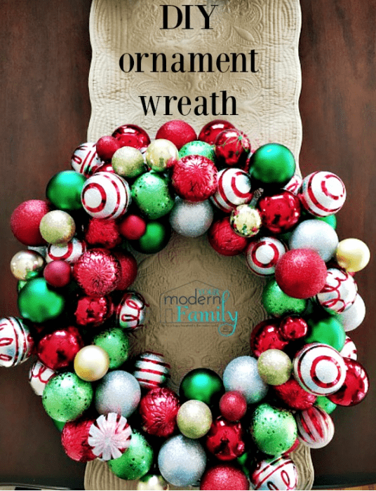 ornament wreath & the steps to make it (with pictures)