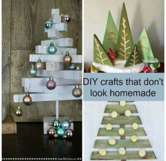 A collage of DIY crafts.