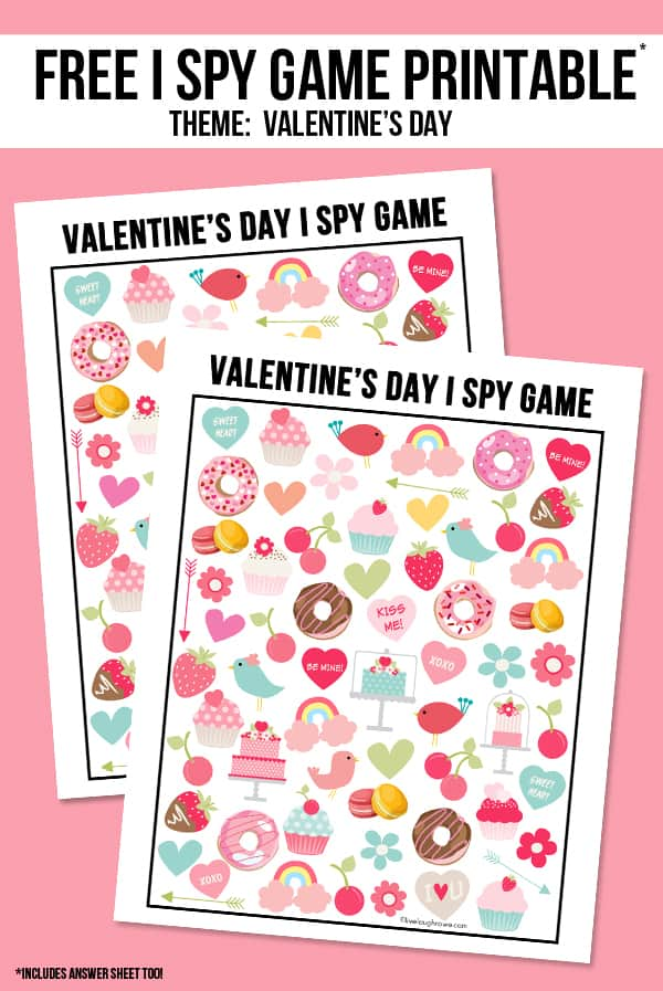 Valentine\'s Day paper game.