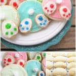 pin for Easter bunny bottom sugar cookies