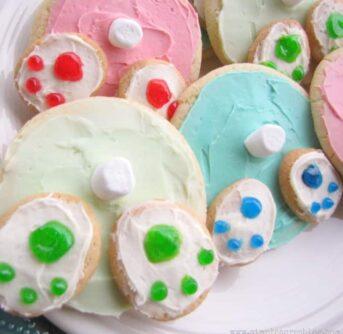 bunny bottom easter cookies
