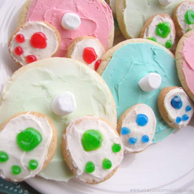 bunny bottom easter cookies