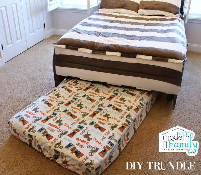 Diy Wooden Headboard With Light Trundle Your Modern Family