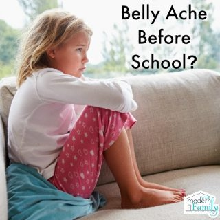 Child's stomach hurts before school