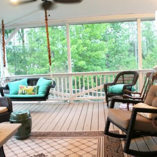 Our back porch before & after