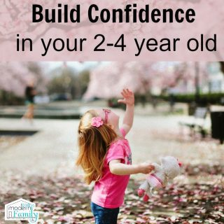 Build confidence in your 2-4 year old