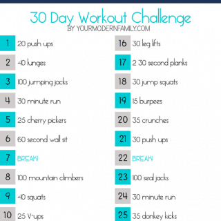 30 day slim down fitness challenge