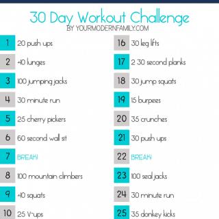 30 day slim down fitness challenge
