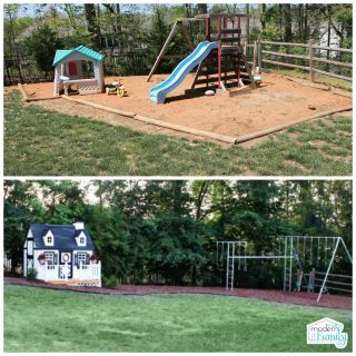 Kid friendly backyard before and after photos