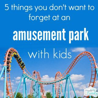 5 Things you DON'T want to forget to take to an amusement park (with kids!)