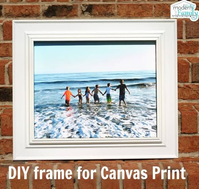 How to make a frame for a canvas picture - Your Modern Family