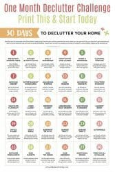 Declutter Your Home In 30 Days With This Free Declutter