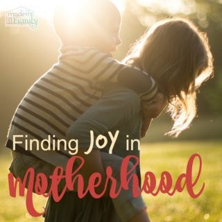 Why You Can't Find Joy as a Mom