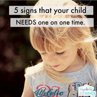5 signs your child NEEDS one on one time