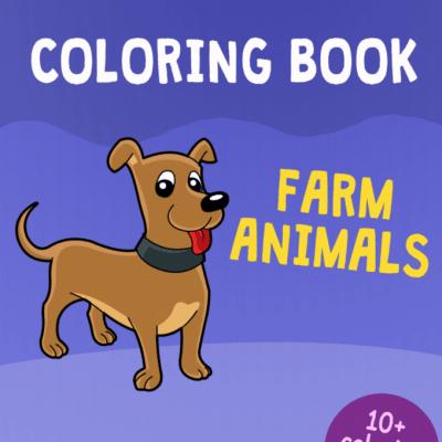 farm animals printable coloring book