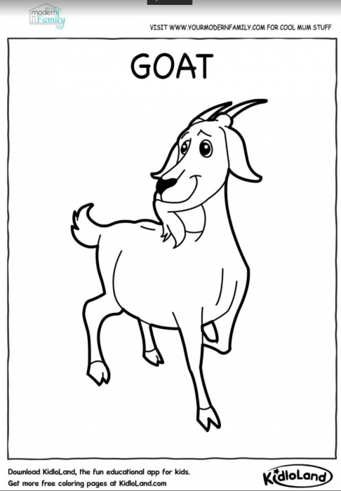 FREE farm animals printable coloring sheets - Your Modern Family