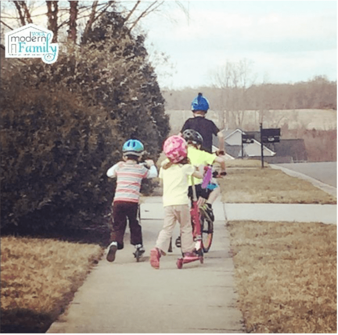 biking with the kids