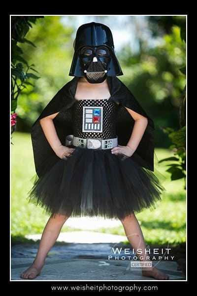 Darth Vadar - No Sew TuTu costumes for little girls