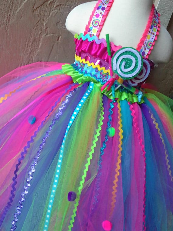 No Sew TuTu costumes for little girls - candy land costume