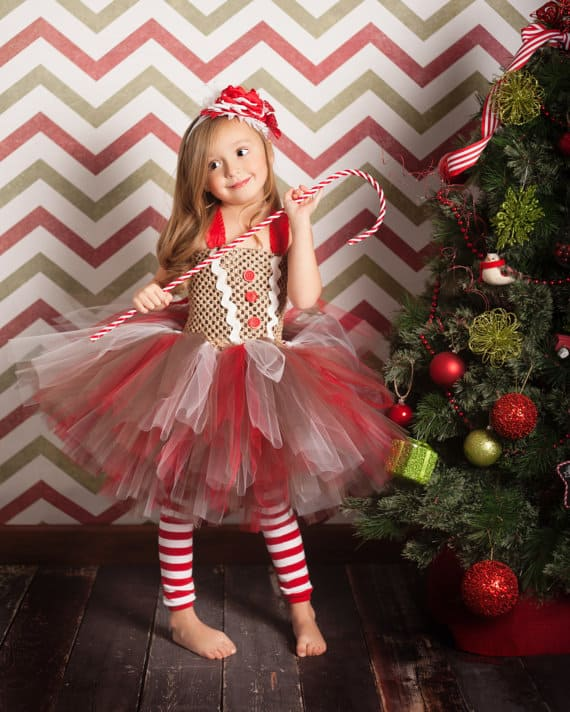 Gingerbread Costume -- No Sew TuTu costumes for little girls