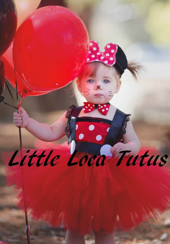 No Sew TuTu costumes for little girls - minnie mouse costume