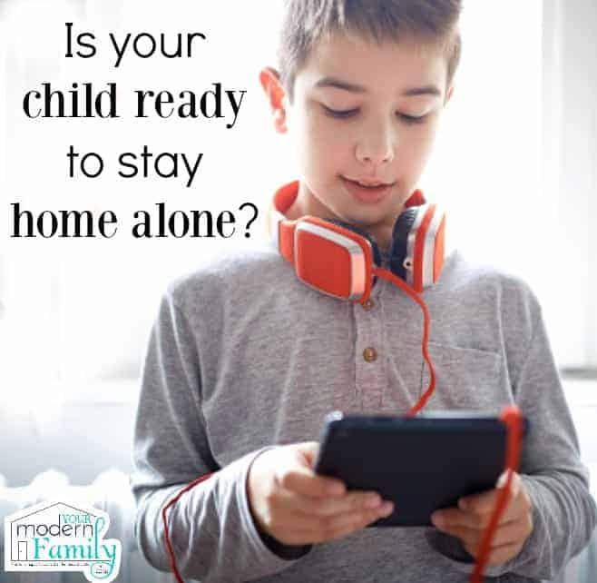 child ready to stay home alone