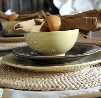 A Fall themed place setting.