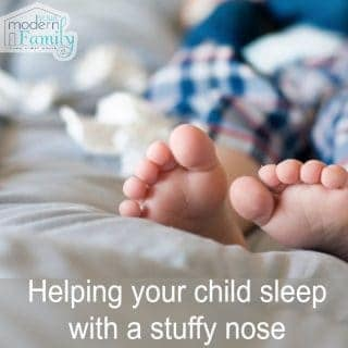 How we help our kids sleep with a stuffy nose