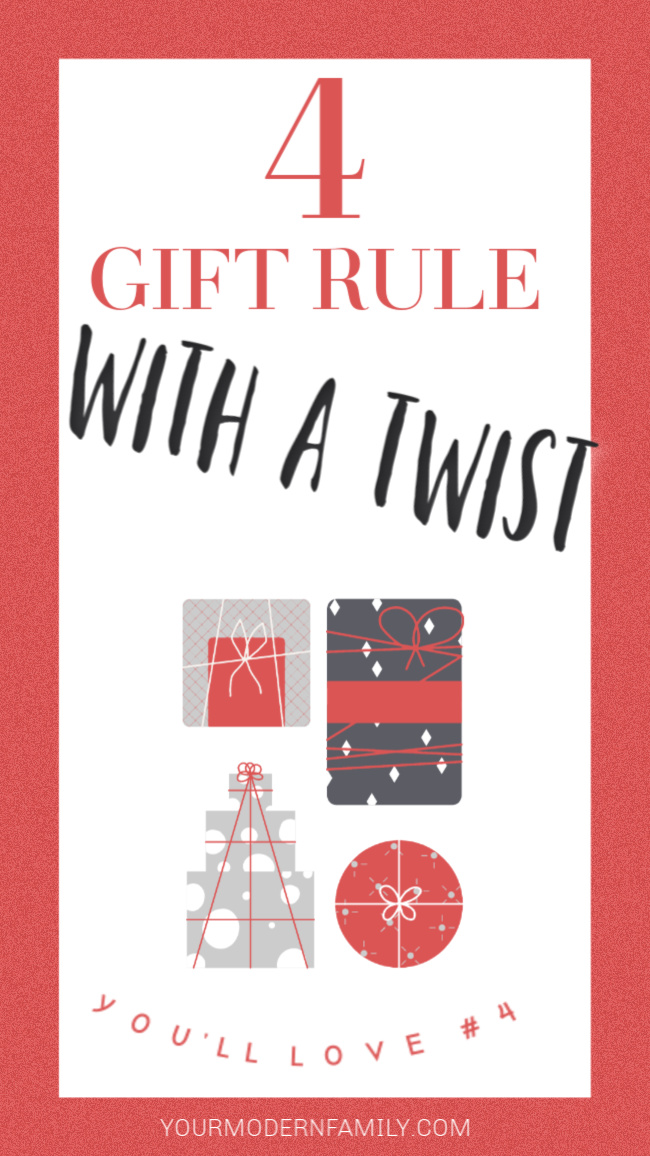 Four Christmas Gift Rule (with a meaningful twist)