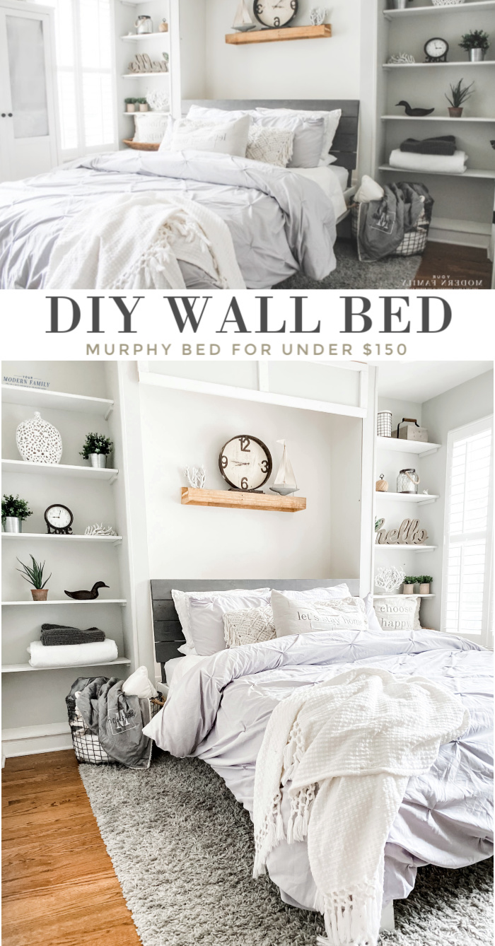 Murphy Bed! DIY wall bed for under $150