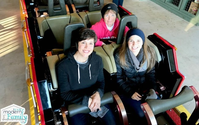 3 of us on the Lightening Dollywood ride